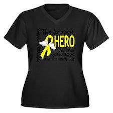 D Sarcoma Br Women's Plus Size Dark V-Neck T-Shirt