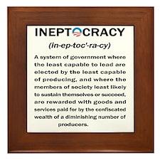 Ineptocracy Framed Tile