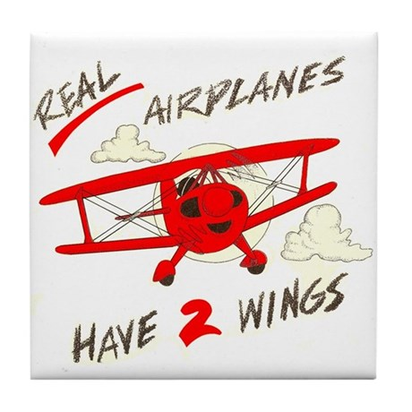 REAL AIRPLANES I Tile Coaster