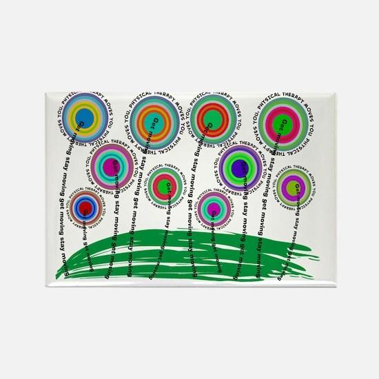 PT FLOWERS FINISHED Rectangle Magnet