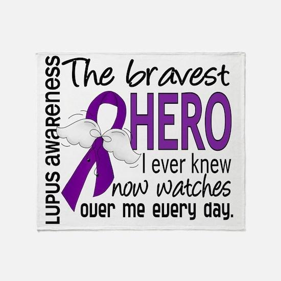 D Lupus Bravest Hero I Ever Knew Throw Blanket