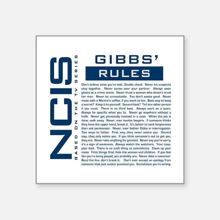 NCIS Gibbs Rules Sticker
