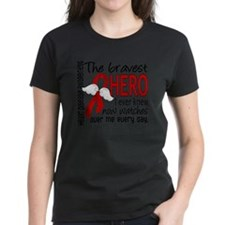 D Heart Disease Bravest Hero  Tee