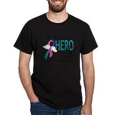 D Thyroid Cancer Bravest Hero I Ever  T-Shirt