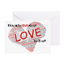 The Truth about Love Greeting Card