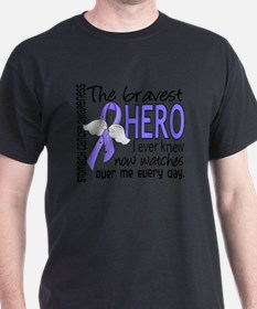 D Stomach Cancer Bravest Hero I Ever  T-Shirt