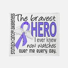 D Stomach Cancer Bravest Hero I Ever Throw Blanket