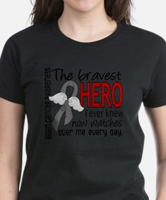 D Brain Cancer Bravest Hero I Tee