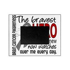 D Brain Cancer Bravest Hero I Ever K Picture Frame