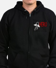 D Brain Cancer Bravest Hero I Ev Zip Hoody