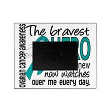 D Ovarian Cancer Bravest Hero I Ever Picture Frame