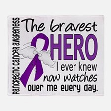 D Pancreatic Cancer Bravest Hero I E Throw Blanket
