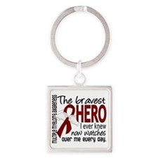 D Multiple Myeloma Bravest Hero I  Square Keychain