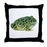 Pacman Frog Photo Throw Pillow