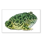 Pacman Frog Photo Rectangle Sticker