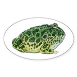 Pacman Frog Photo Oval Sticker