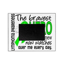 D Lymphoma Bravest Hero I Ever Knew Picture Frame
