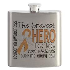 D Leukemia Bravest Hero I Ever Knew Flask