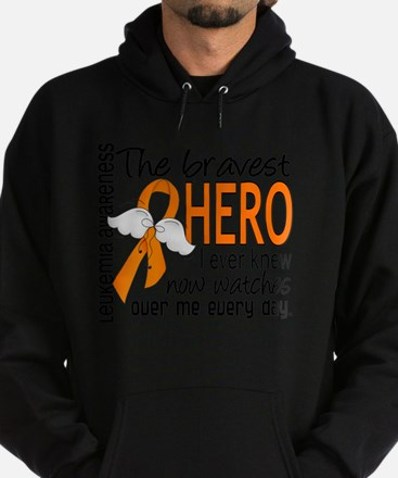 D Leukemia Bravest Hero I Ever Knew Hoodie (dark)