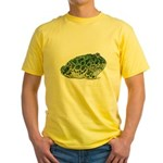 Pacman Frog Photo Yellow T-Shirt