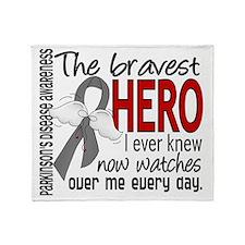 D Parkinsons Disease Bravest Hero I  Throw Blanket