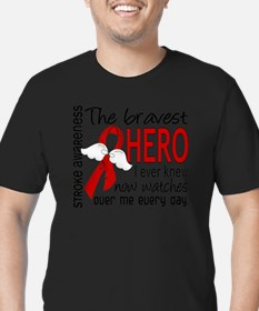 D Stroke Bravest Hero  Men's Fitted T-Shirt (dark)