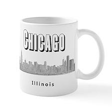 Chicago_10x10_Skyline1_Black Mug