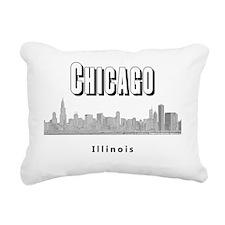 Chicago_10x10_Skyline1_B Rectangular Canvas Pillow