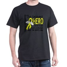 D Testicular Cancer Bravest Hero I Ev T-Shirt