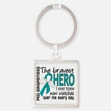 D PKD Bravest Hero I Ever Knew Square Keychain