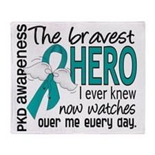 D PKD Bravest Hero I Ever Knew Throw Blanket
