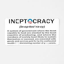 Ineptocracy Aluminum License Plate
