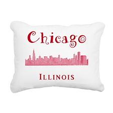 Chicago_10x10_Skyline2_R Rectangular Canvas Pillow