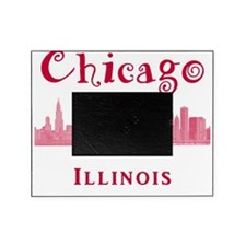 Chicago_10x10_Skyline2_Red Picture Frame
