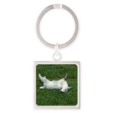 fainting goat Square Keychain