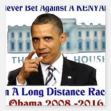 "obama winner Square Car Magnet 3"" x 3"""