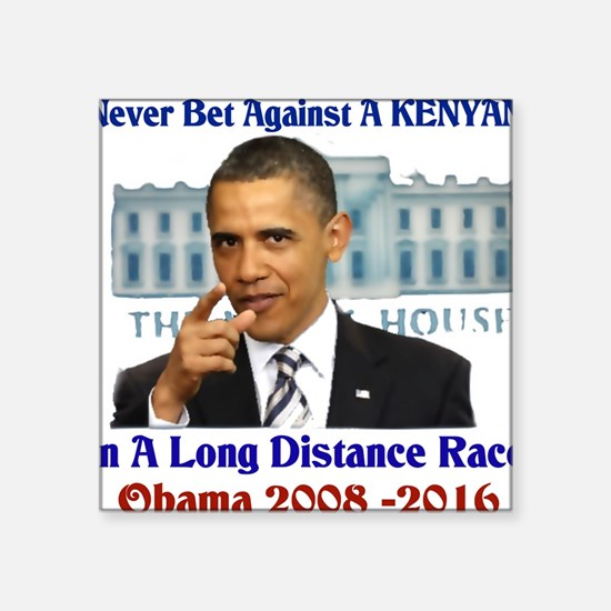 "obama winner Square Sticker 3"" x 3"""