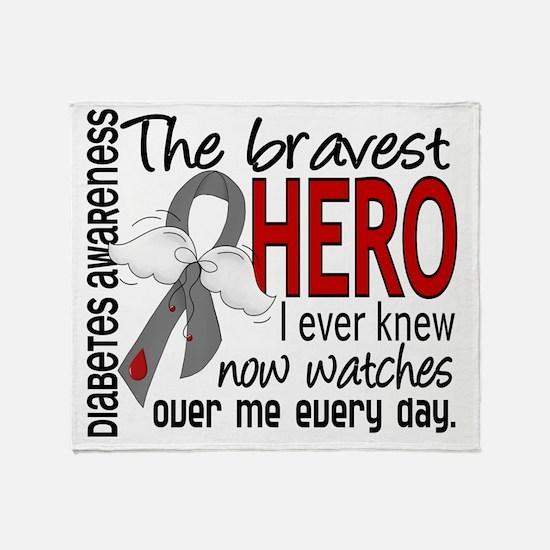 D Diabetes Bravest Hero I Ever Knew Throw Blanket