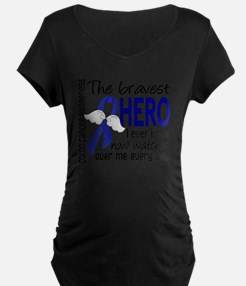 D Colon Cancer Bravest Hero T-Shirt