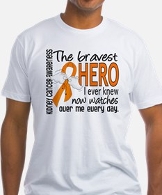 D Kidney Cancer Bravest Hero I Ever Shirt