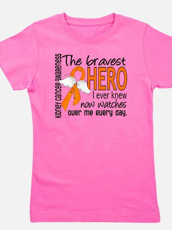 D Kidney Cancer Bravest Hero I Ever Kne Girl's Tee
