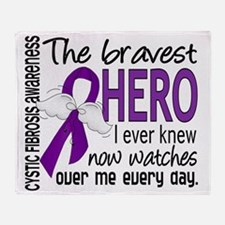 D Cystic Fibrosis Bravest Hero I Eve Throw Blanket