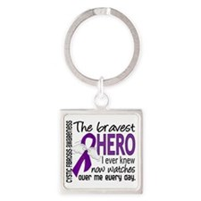 D Cystic Fibrosis Bravest Hero I E Square Keychain