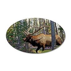 Bull elk in pines 6 Wall Decal