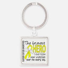 D Bladder Cancer Bravest Hero I Ev Square Keychain