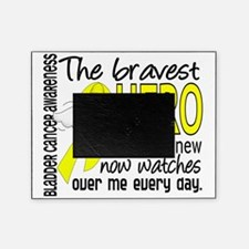 D Bladder Cancer Bravest Hero I Ever Picture Frame