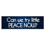 Try a Little Peace Now Bumper Sticker