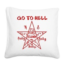 Go to Hell Square Canvas Pillow