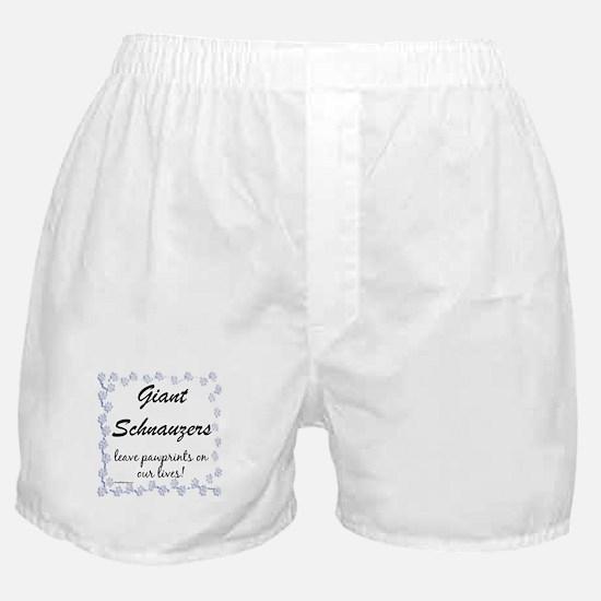 Schnauzer Pawprint Boxer Shorts