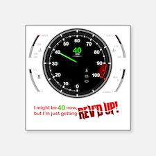"speedometer-40 Square Sticker 3"" x 3"""
